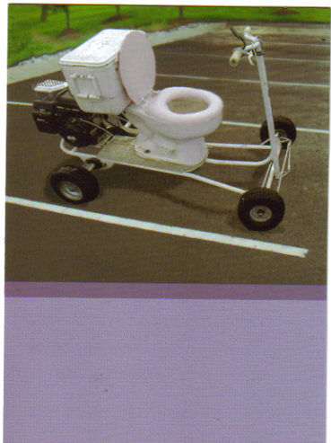 birthday card toilet ride