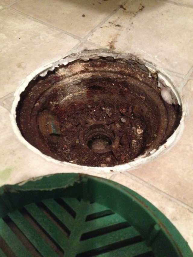 Floor Drains that are Clogged Plugged or Backing-Up