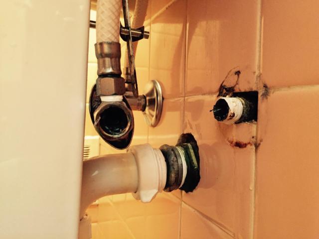 bathoom sink nipple broken